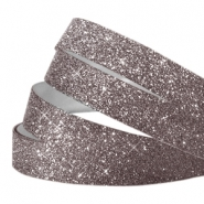 Tape van Crystal Glitter 10mm Grey purple