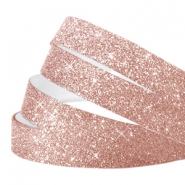 Tape van Crystal Glitter 10mm Rose peach