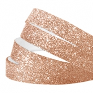 Tape van Crystal Glitter 10mm Champagne rose gold