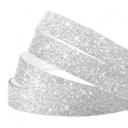 Tape van Crystal Glitter 10mm Silver