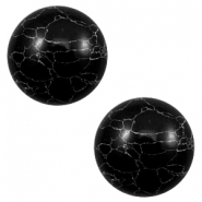 Cabochons basic stone look 12mm Black