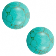 Cabochons basic stone look 20mm Light turquoise-brown