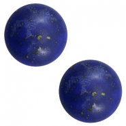 Cabochons basic stone look 20mm Blue-gold