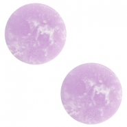 Cabochons basic plat stone look 12mm Lavender purple