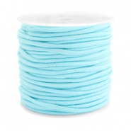 Gekleurd elastiek 2.5mm Aqua blue