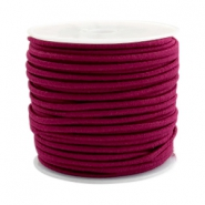 Gekleurd elastiek 2.5mm Aubergine red