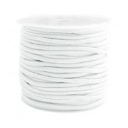 Gekleurd elastiek 2.5mm White