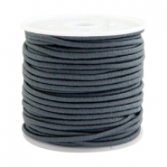 Gekleurd elastiek 2mm Dark grey