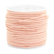 Gekleurd elastiek 1.5mm Pastel peach