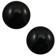 12 mm classic Polaris Elements cabochon pearl shine Black