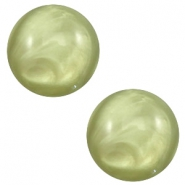 20 mm classic Polaris Elements cabochon pearl shine Salvia green