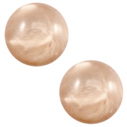 12 mm classic Polaris Elements cabochon pearl shine Hazel brown