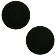 12 mm platte Polaris Elements cabochon matt Black