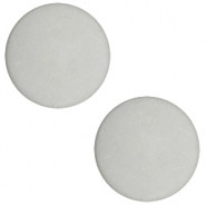 12 mm platte Polaris Elements cabochon matt Light cloudy grey