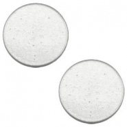 12 mm platte Super Polaris cabochon Light cloudy grey
