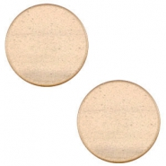 12 mm platte Super Polaris cabochon Hazel brown