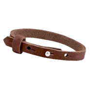 Armbanden Cuoio nubuck leer 8 mm voor 12 mm cabochon Chocolate brown