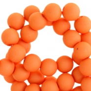 6 mm kralen van acryl mat Vibrant orange