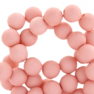 8 mm kralen van acryl mat Light shell pink
