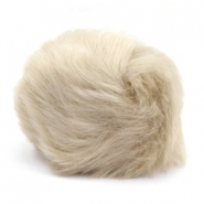 Bedel pompom faux fur Beige brown