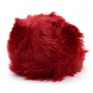 Bedel pompom faux fur Burgundy red