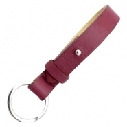Cuoio leren sleutelhangers 15mm voor 20mm cabochon Tawny port red