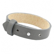 Armbanden Cuoio leer 15 mm voor 20 mm cabochon Anthracite grey