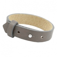 Armbanden Cuoio leer 15 mm voor 20 mm cabochon Dark natural taupe
