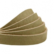 Plat leer 10 mm DQ nubuck Light olive green