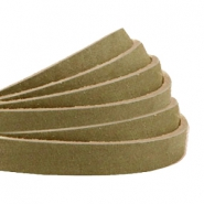 Plat leer 5 mm DQ nubuck Light olive green