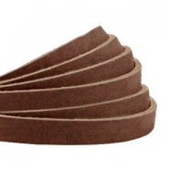 Plat leer 5 mm DQ nubuck Chocolate brown