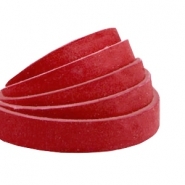 Plat leer 10 mm DQ nubuck Burgundy red