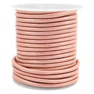 Leer DQ rond 3 mm Vintage rose metallic