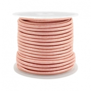 Leer DQ rond 2 mm Vintage rose metallic