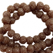 Sparkle beads 6mm Dark brown