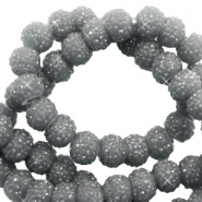 Sparkle beads 8mm Dark grey