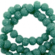Sparkle beads 6mm Vintage green