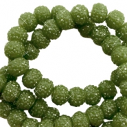 Sparkle beads 6mm Olive green