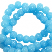 Sparkle beads 6mm Sky blue