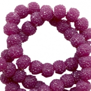 Sparkle beads 8mm Butterfly purple