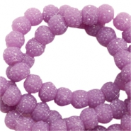 Sparkle beads 6mm Lavender Purple