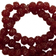 Sparkle beads 8mm Tawny port red