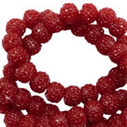Sparkle beads 6mm Port red