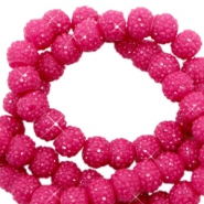 Sparkle beads 8mm Yarrow pink