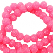 Sparkle beads 8mm Candy pink