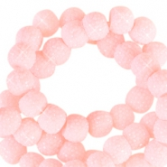 Sparkle beads 6mm Light pink