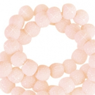 Sparkle beads 6mm Dusty pink