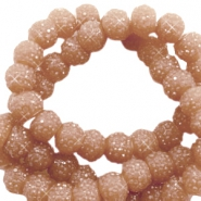 Sparkle beads 6mm Nude sierra brown