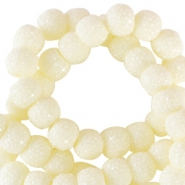 Sparkle beads 8mm Ivory yellow