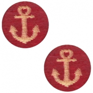 Cabochons hout anchor 12mm Cherry red